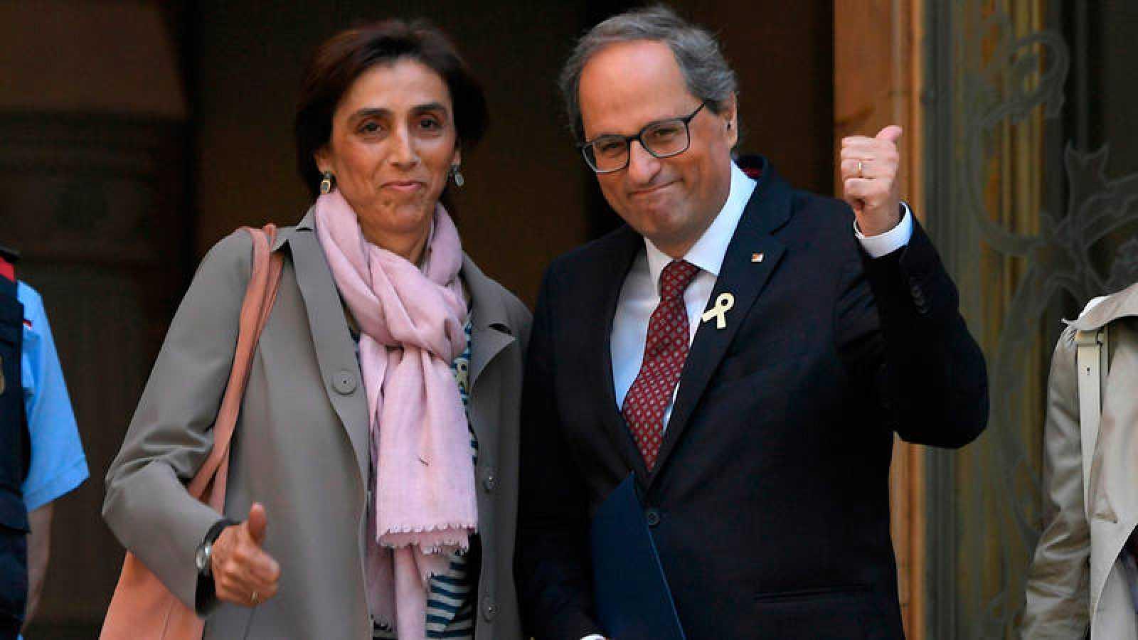 El presidente de la Generalitat, Quim Torra, a las puertas del TSJC
