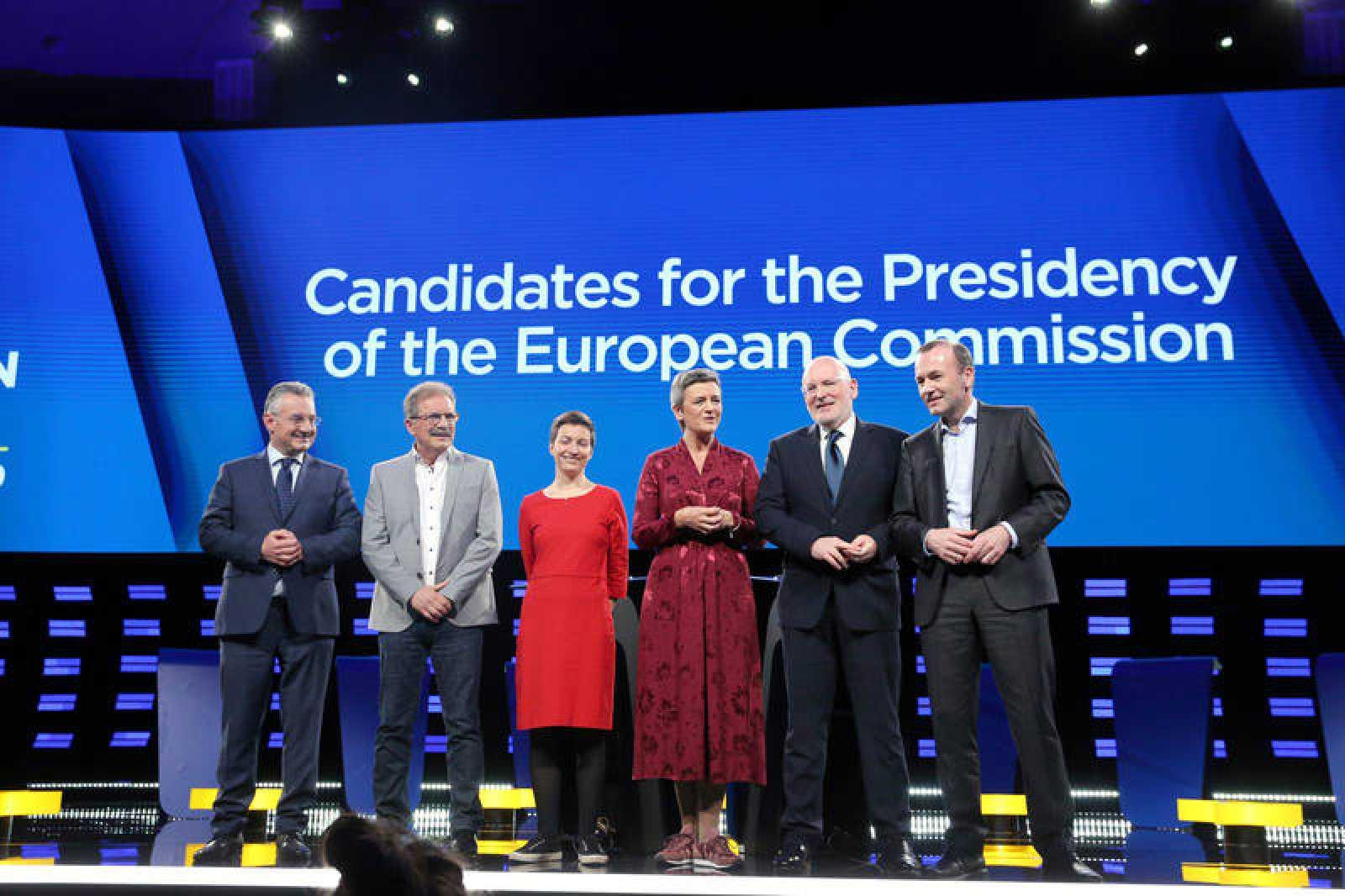 Debate entre los candidatos a presidir la Comisión Europea