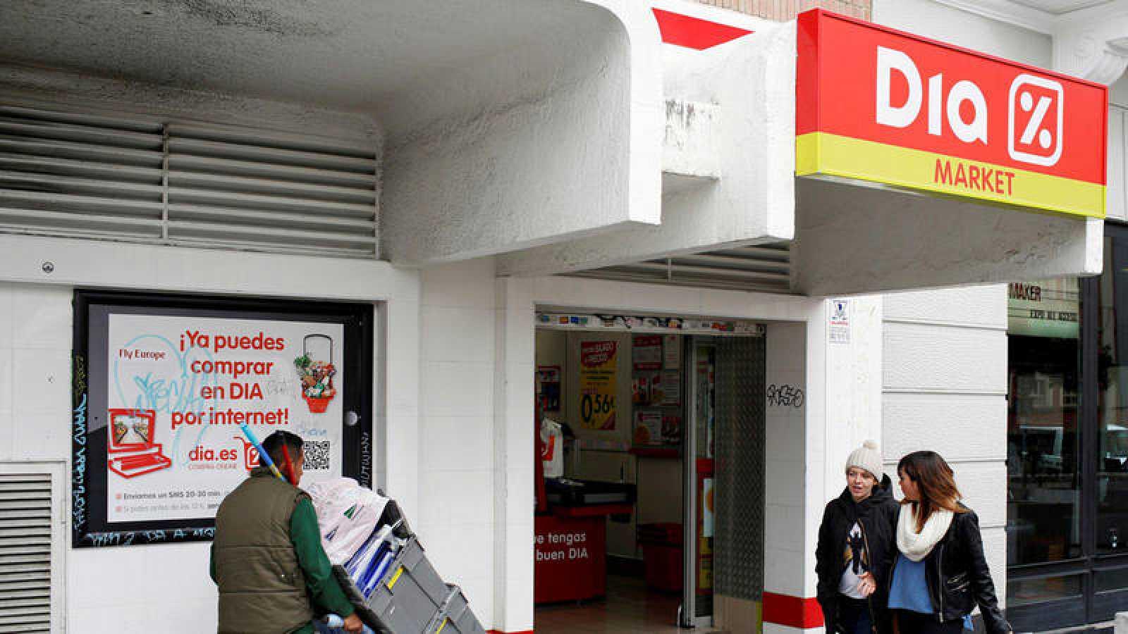 Un supermercado de la cadena Dia en Madrid