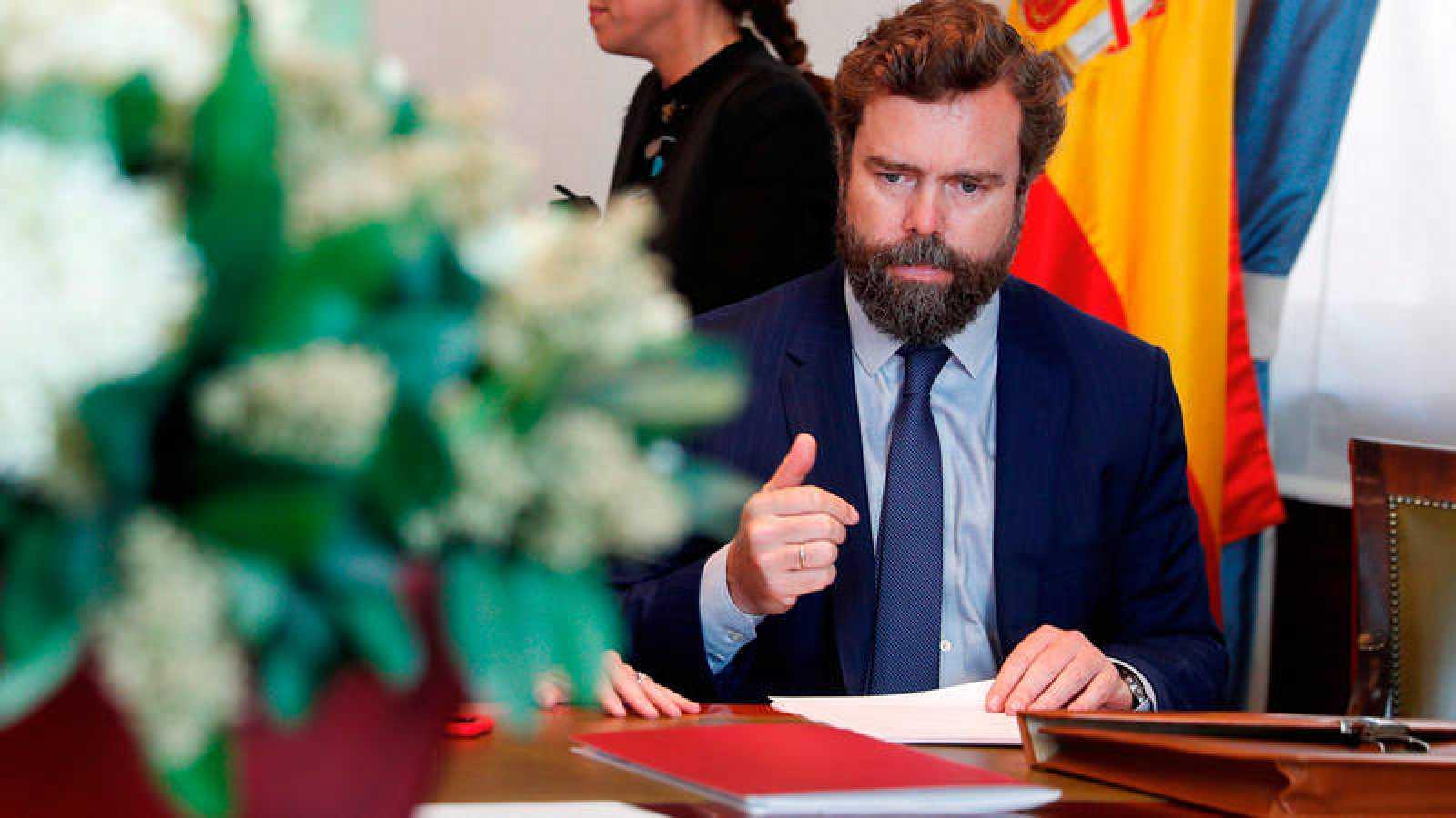 El jefedecampañadeVox para las elecciones municipales, autonómicas y europeas, IvánEspinosadelosMonteros