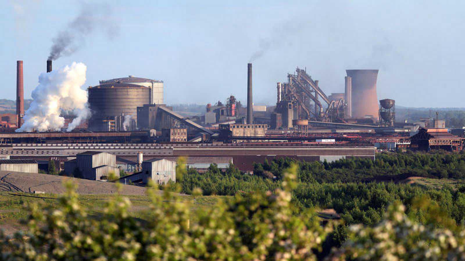 Imagen de la planta de British Steel en Scunthorpe, en el norte de Inglaterra