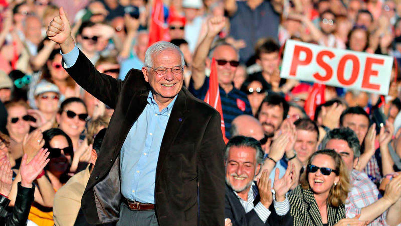 El candidato socialista en las elecciones europeas, Josep Borrell