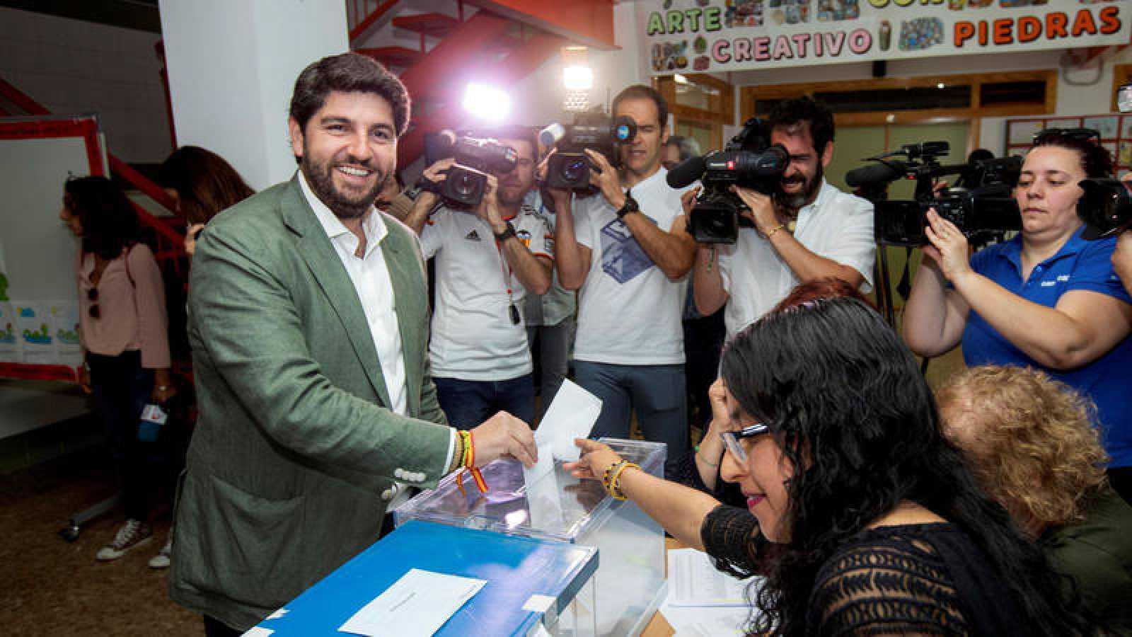 Fernando López Miras, candidato del PP a la presidencia de Murcia