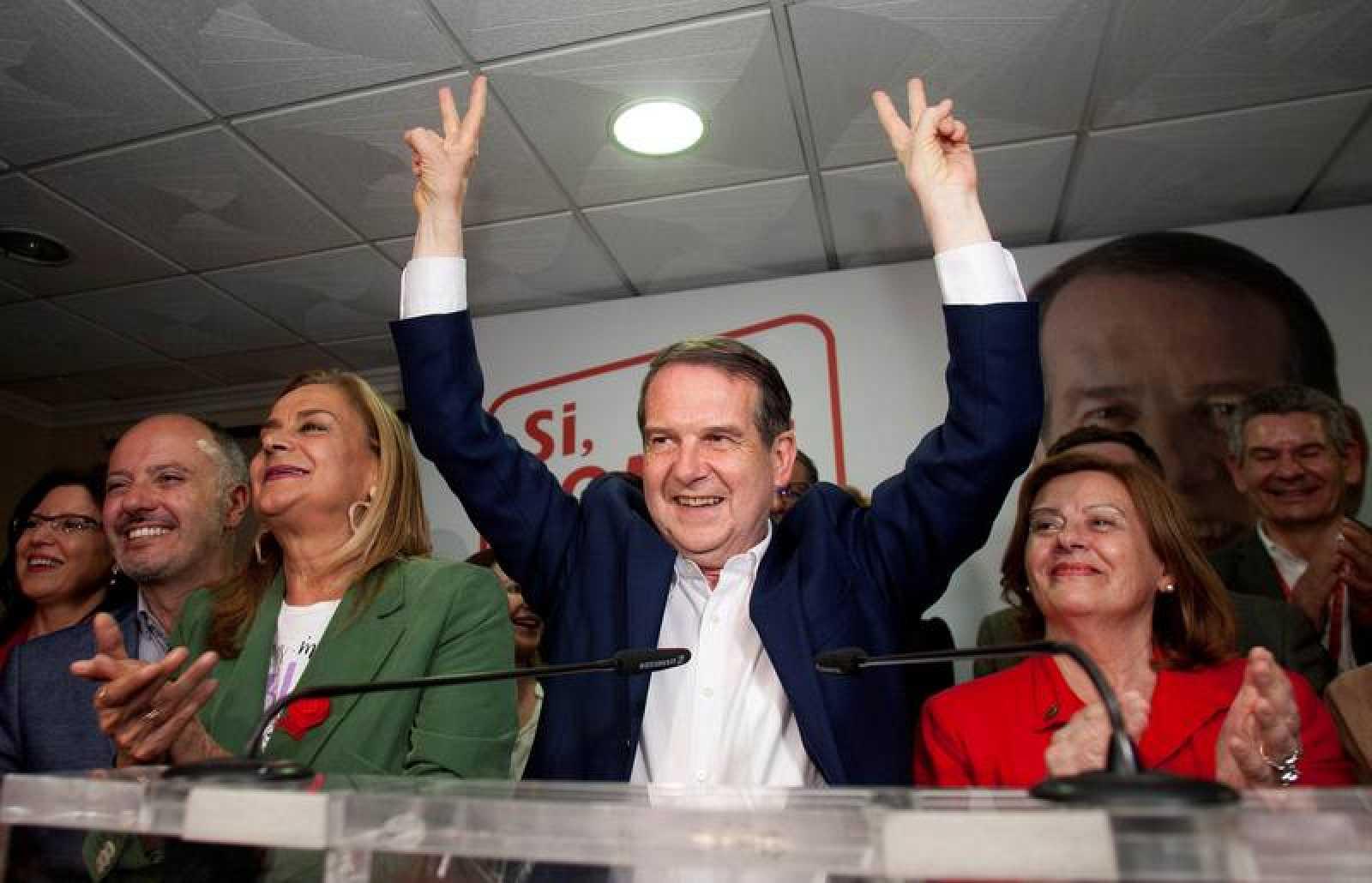 Abel Caballero celebra su mayoría absoluta en el Ayuntamiento de Vigo