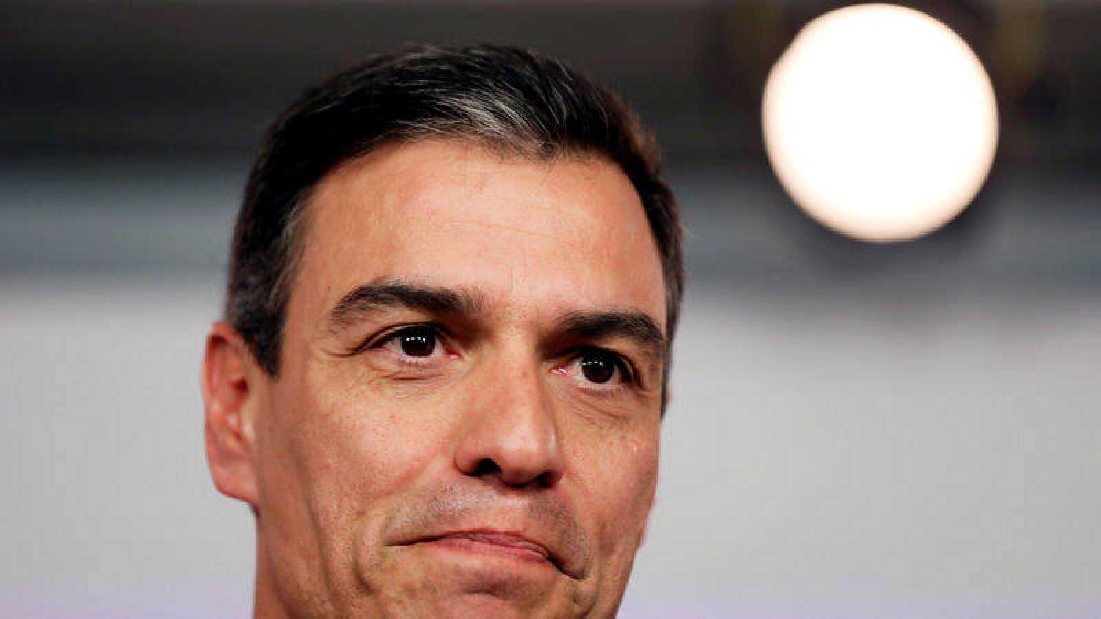 El secretario general del PSOE, Pedro Sánchez, tras conocerse los resultados de este 26M