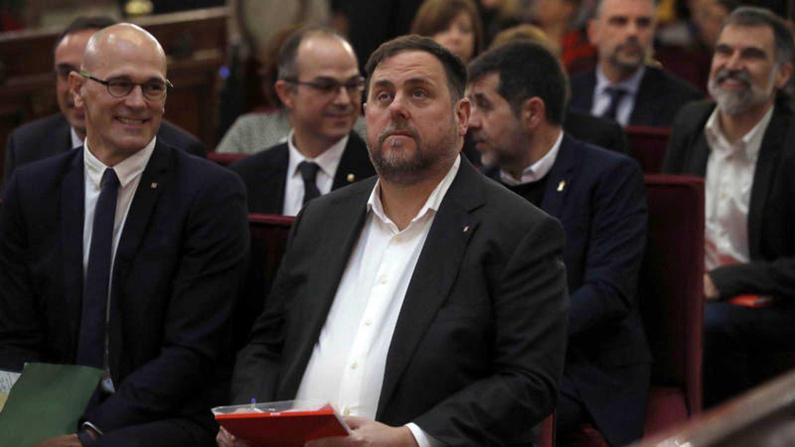 Oriol Junqueras y Raül Romeva, en el juicio del 'procés'
