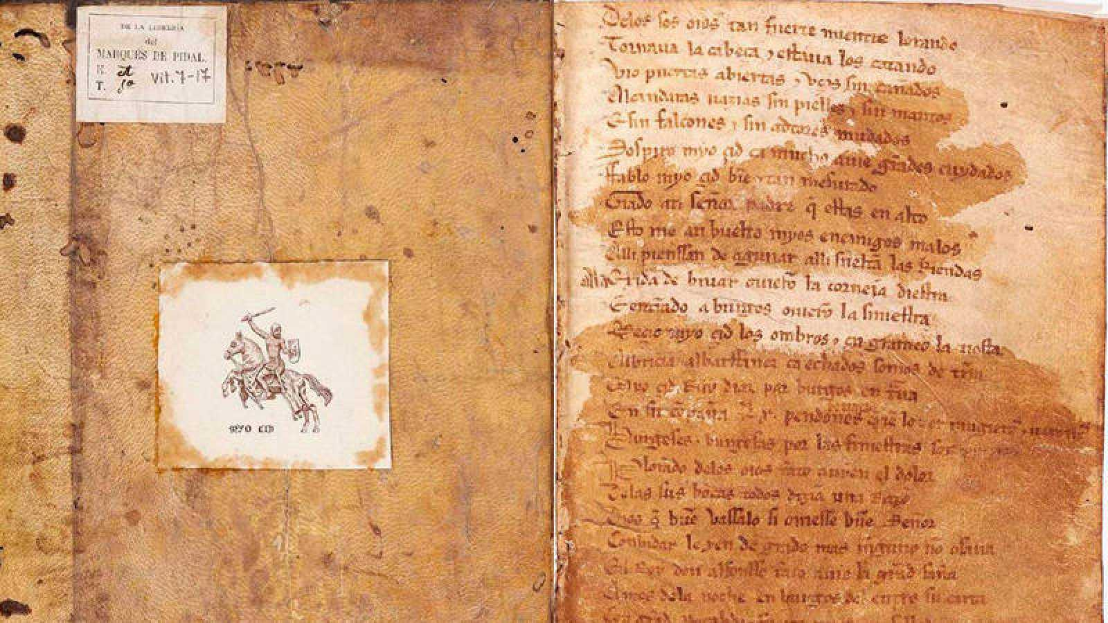 """Imágenes de la algunas de las páginas de la única copia conocida del manuscrito del """"Cantar del Mío Cid"""""""