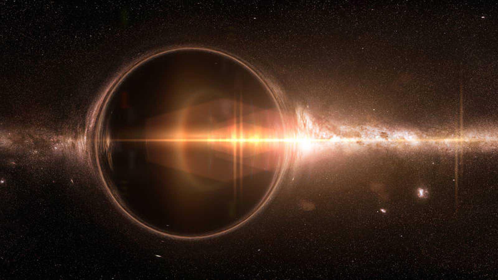 Representación de un agujero negro.