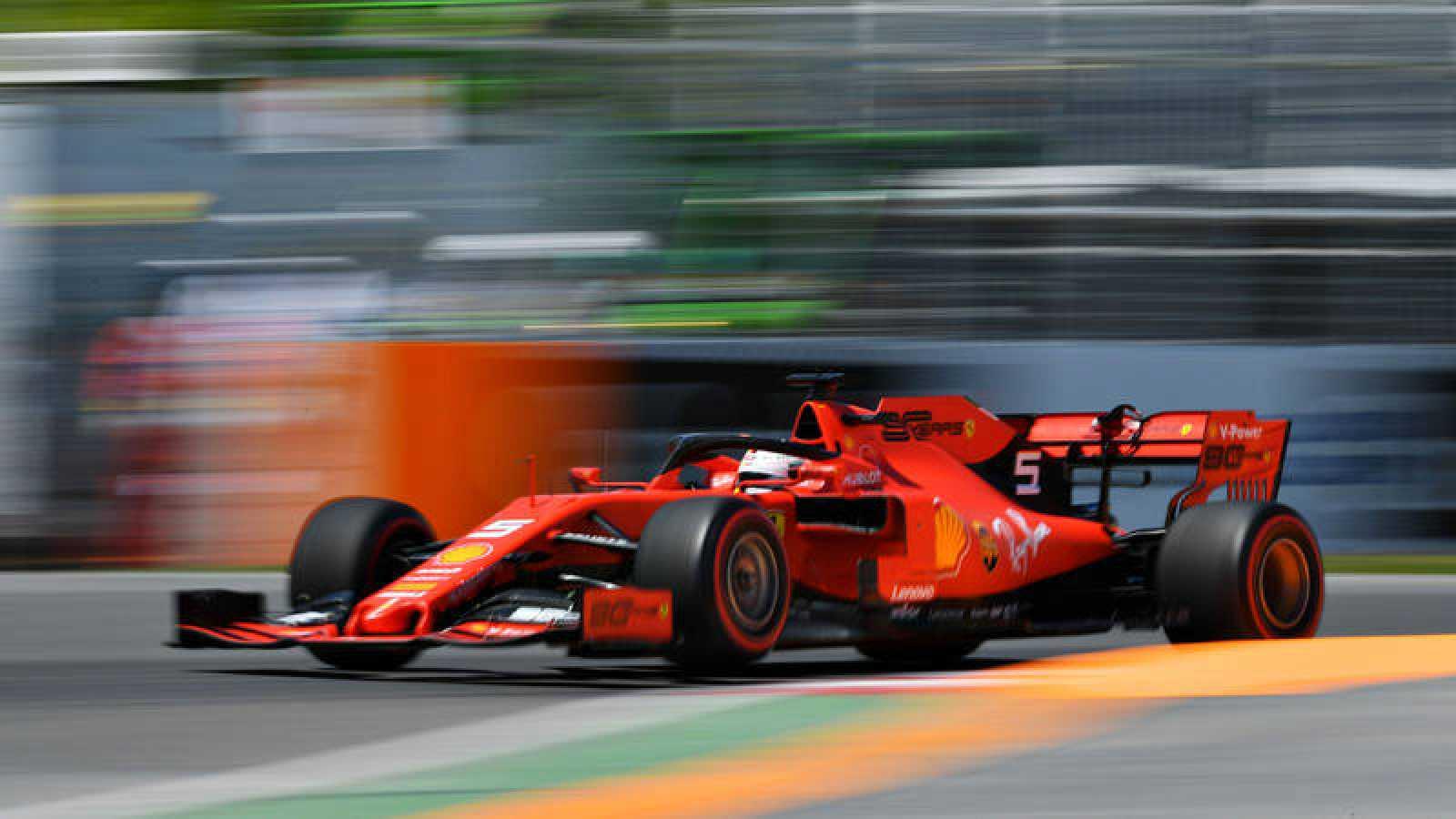 Vettel, rodando en el circuito Gilles Villeneuve de Canadá