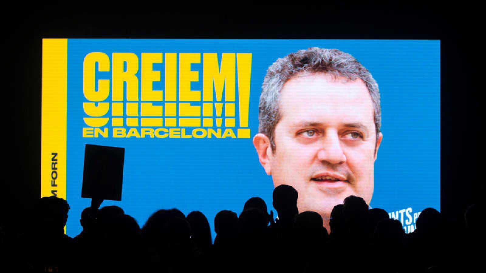 Una imagen del exconseller Joaquim Forn como número uno de la lista de JxCat a la alcaldía de Barcelona