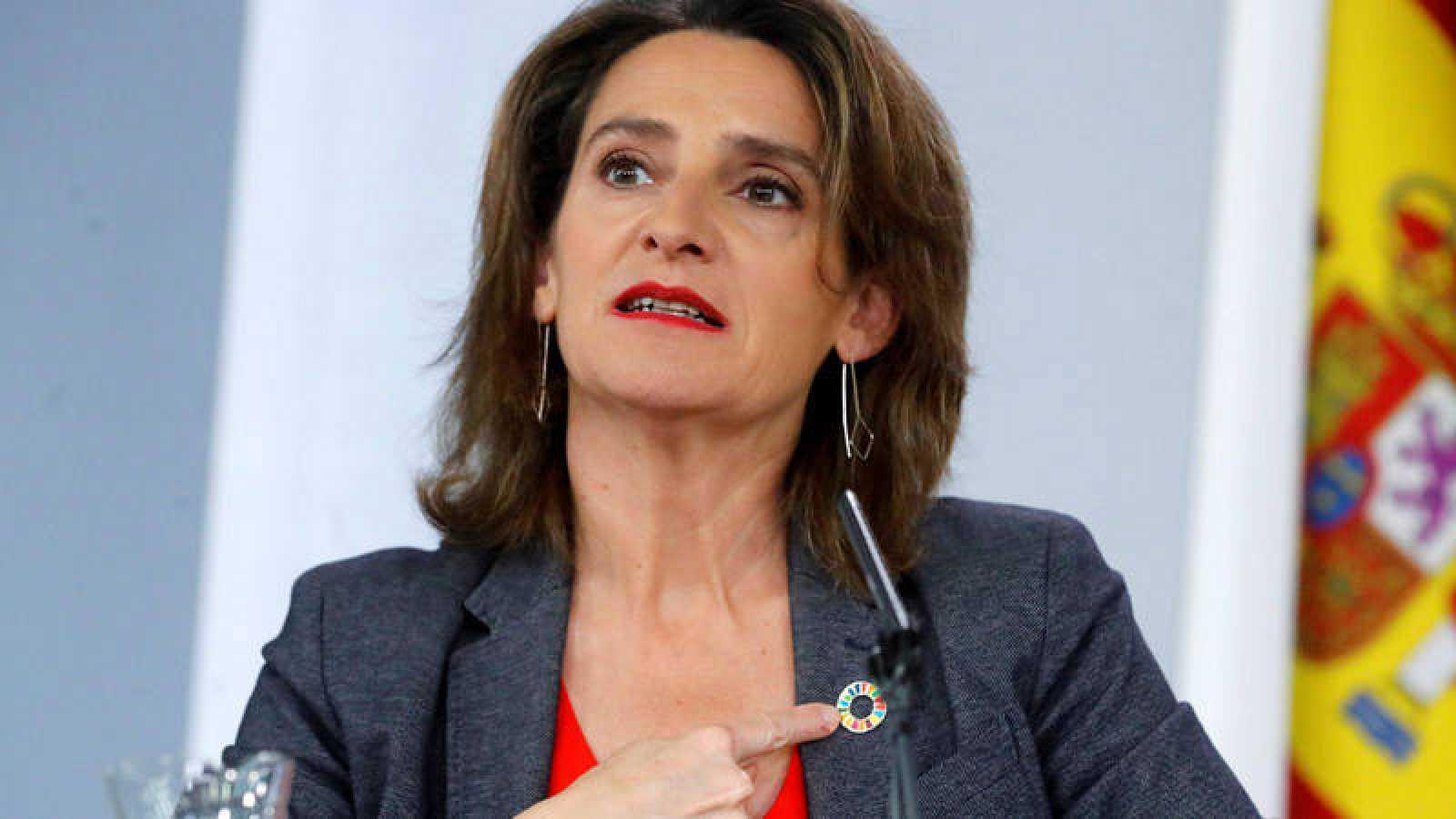 La ministra en funciones de Transición Ecológica, Teresa Ribera