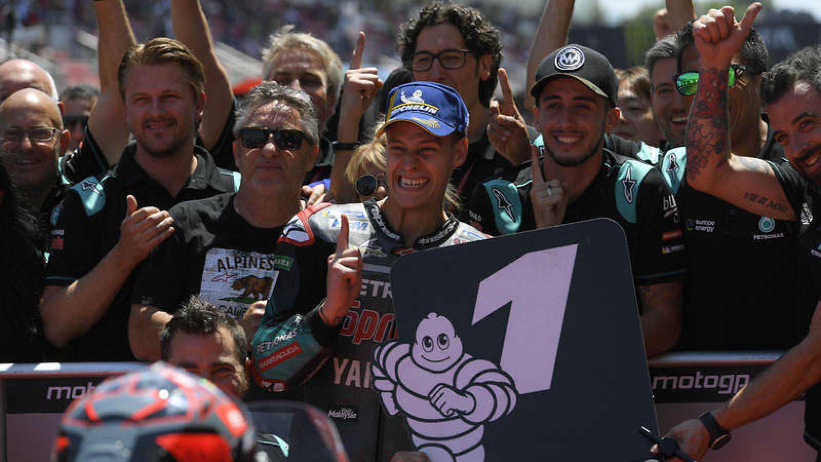 Quartararo celebra la segunda pole de su carrera