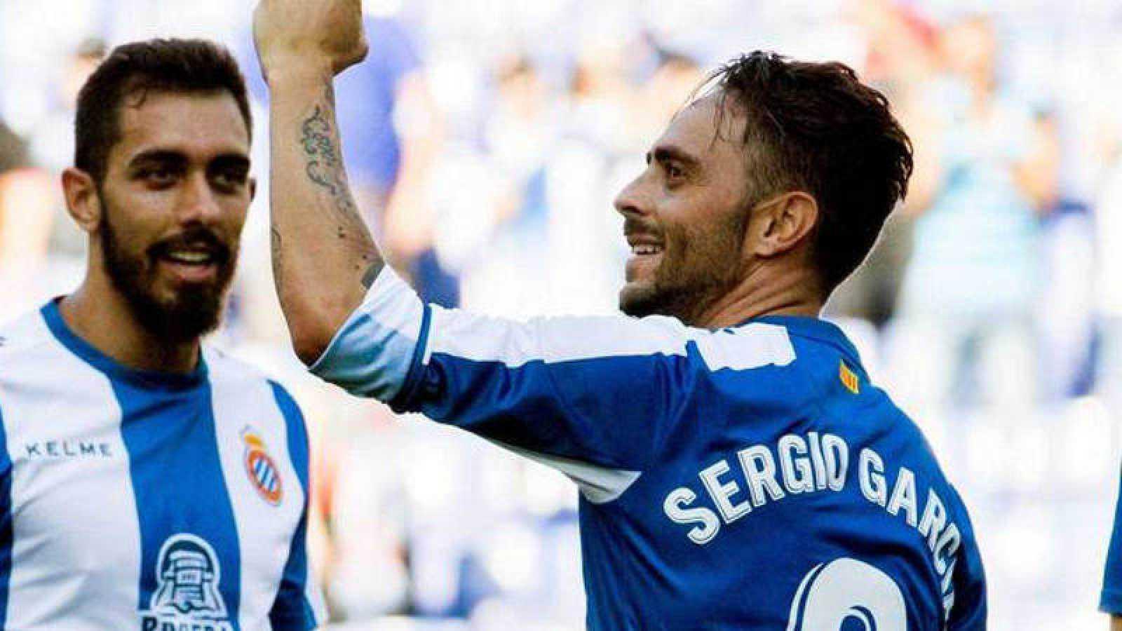 Sergio García celebra uno de sus goles esta temporada