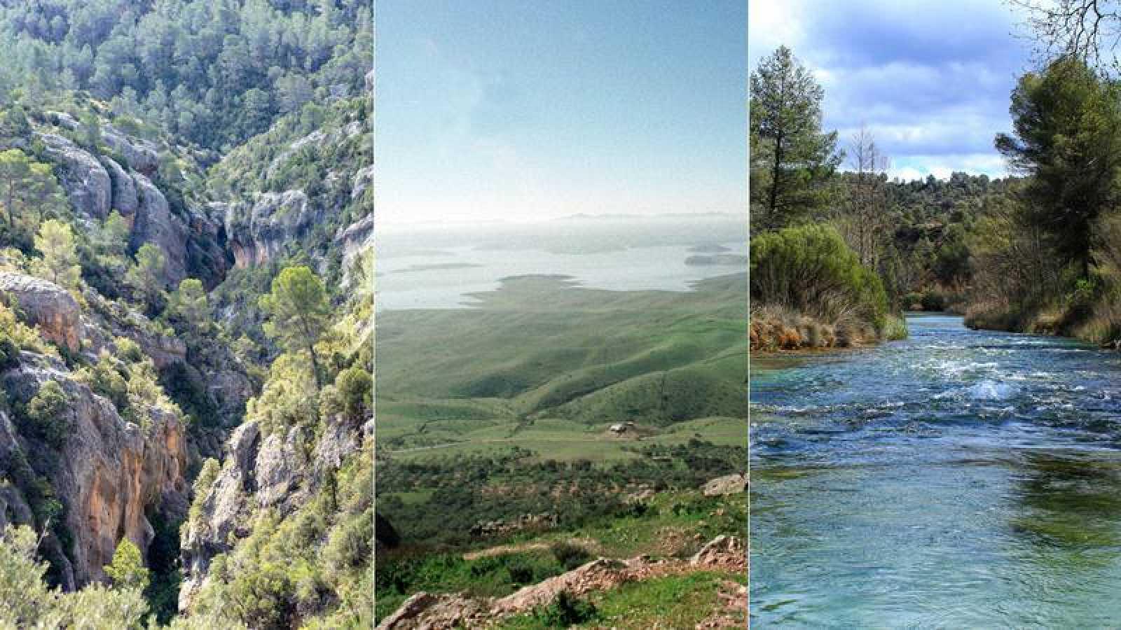 De izquierda a derecha: Alto Turia, SIberia de Extremadura y valle del Cabriel.