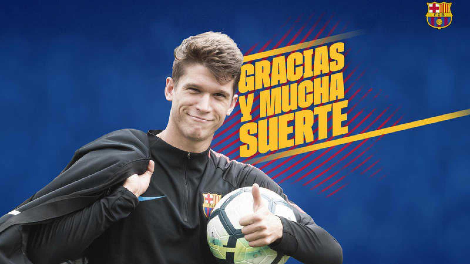 Imagen de despedida del Barça a Marc Cardona.