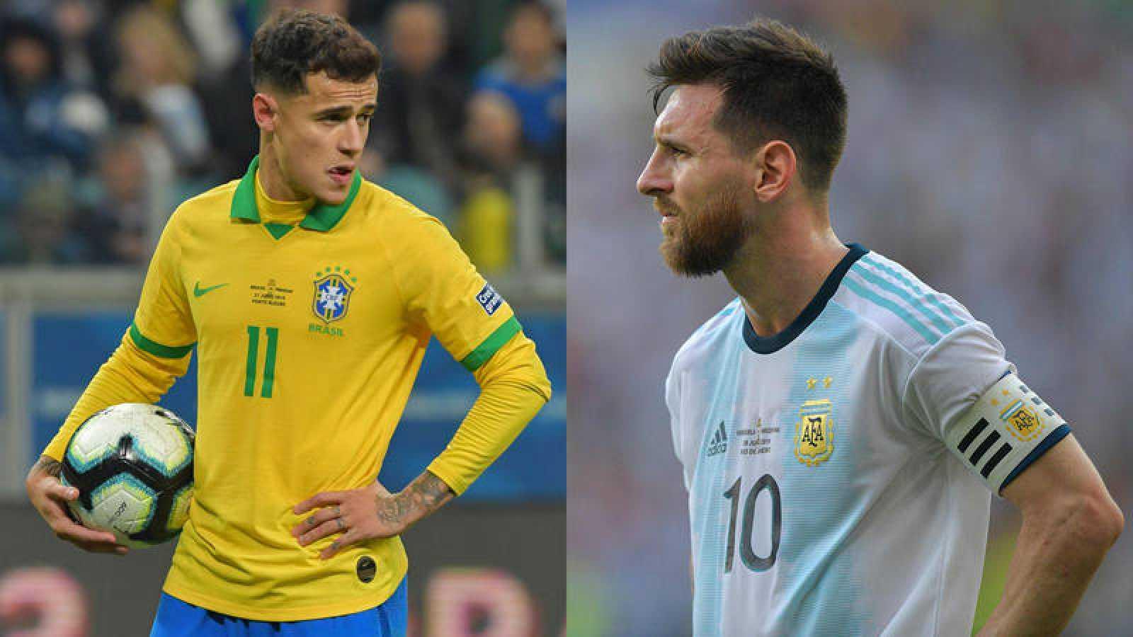 Coutinho (i) y Messi (d), compañeros en el Barça y rivales en el 'Superclásico'.