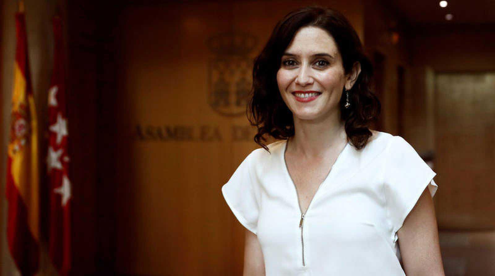 La candidata del Partido Popular a la Presidencia regional, Isabel Díaz Ayuso