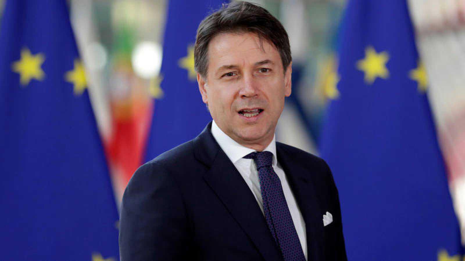 El primer ministro italiano, Giuseppe Conte, este martes en Bruselas