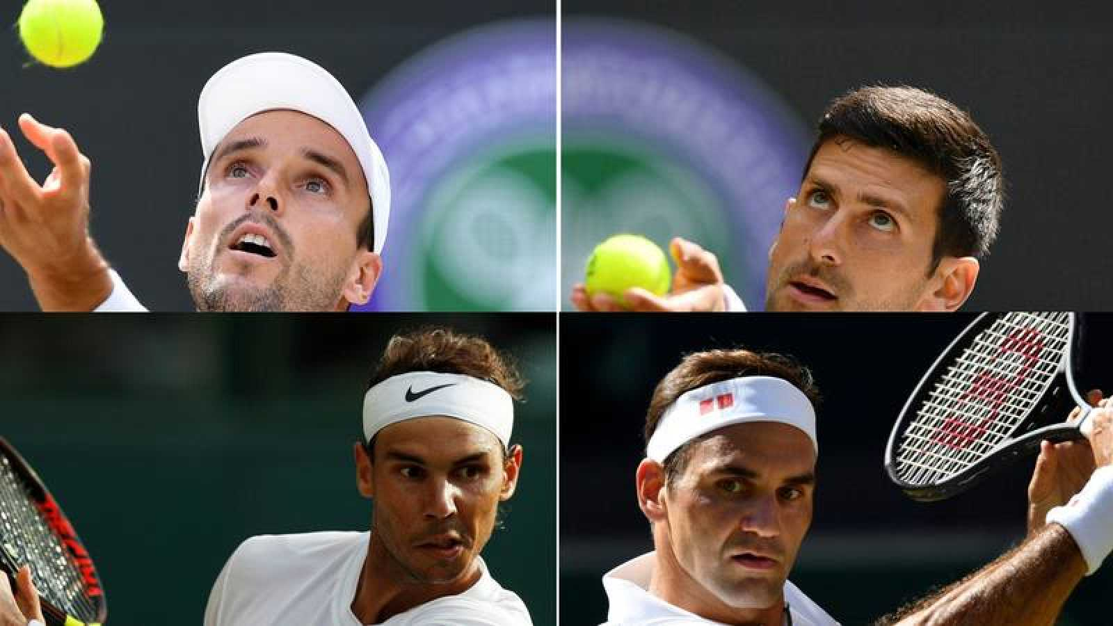 Bautista y Nadal desafían al 'establishment' en Wimbledon