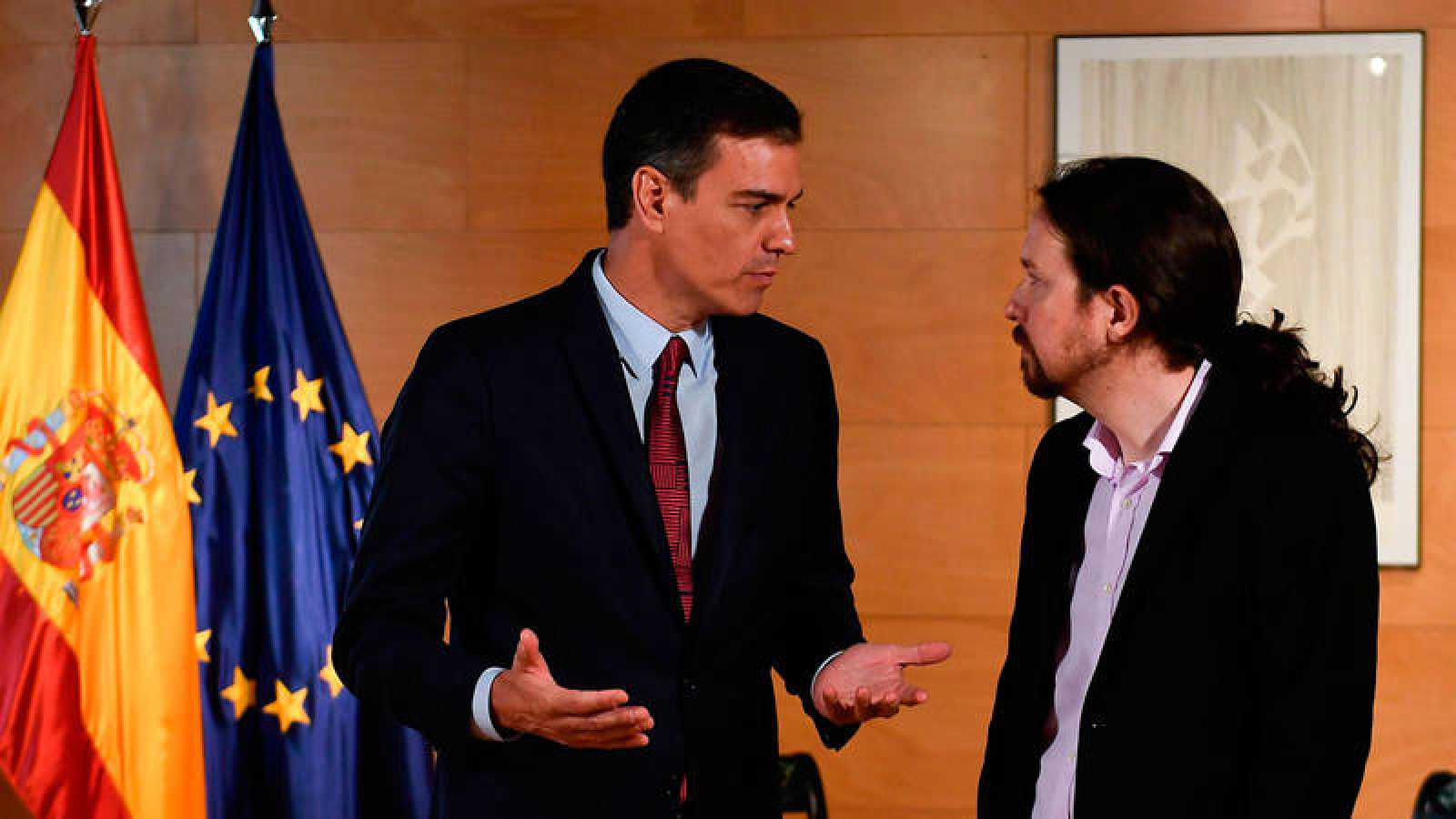 Sánchez e Iglesias, durante la reunión que mantuvieron el pasado martes.