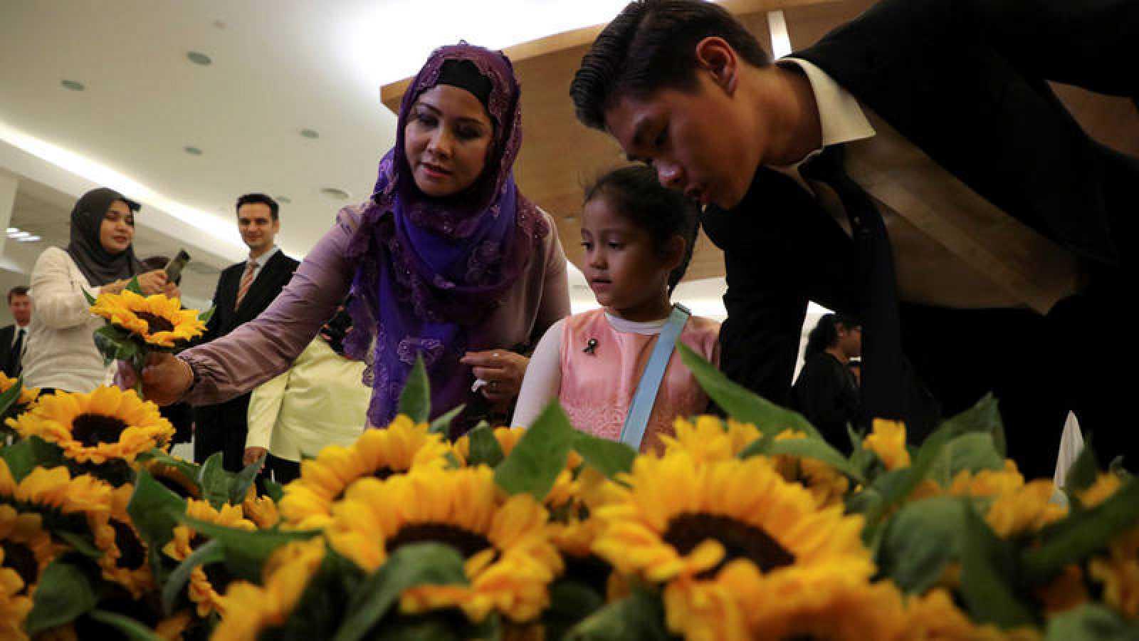 Girasoles y justicia para conmemorar los cinco años sin los 298 pasajeros que viajaban en el vuelo MH17