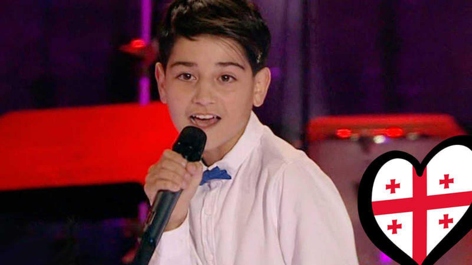 Giorgi Rostiashvili representa a Georgia en Eurovisión Junior 2019