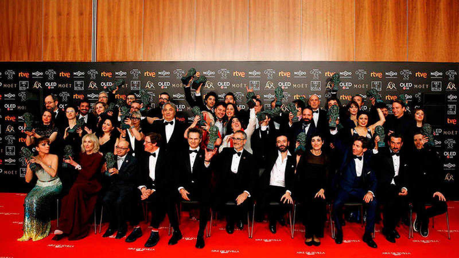 Imagen de todos los ganadores de los Goya 2019