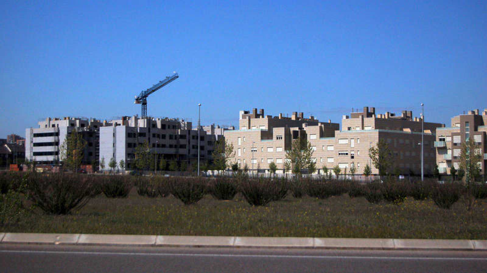 Imagen de archivo de la construcción de viviendas en Valdebebas, en Madrid