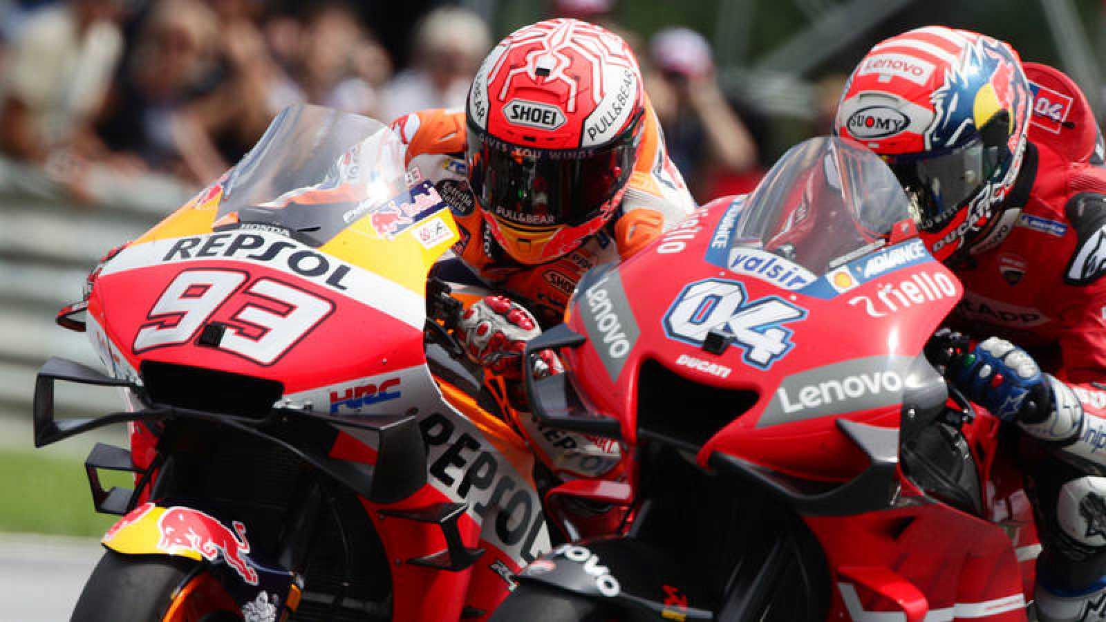 Tremendo duelo entre Márquez y Dovizioso en el GP de Austria.