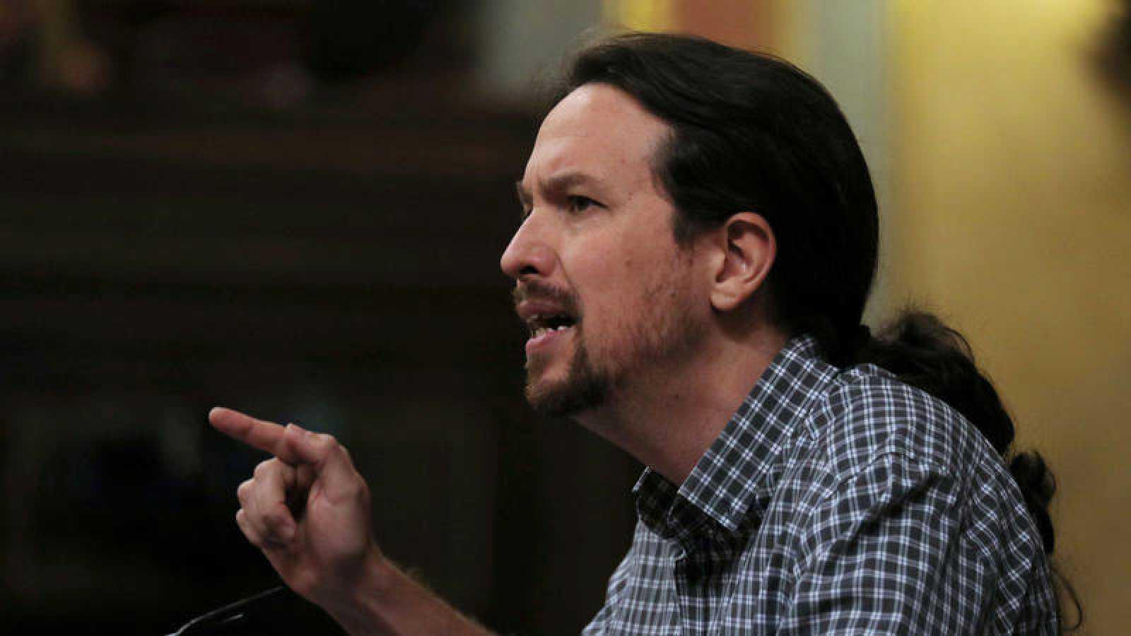 Imagen de archivo en la que aparece el líder de Podemos, Pablo Iglesias