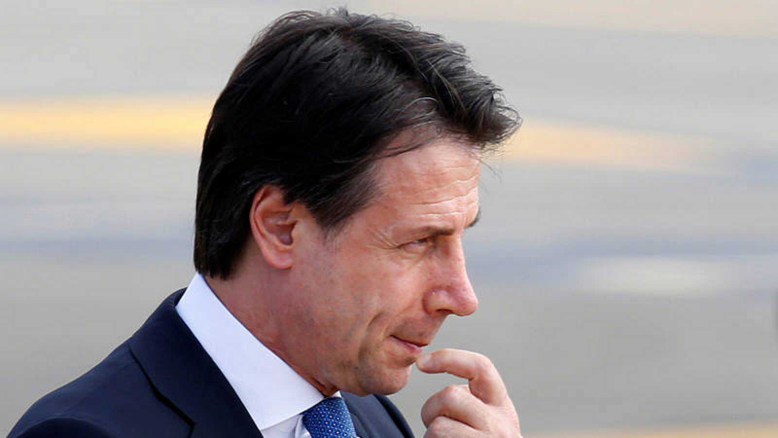 El primer ministro italiano en funciones, Giuseppe Conte, llega a Biarritz para participar en la cumbre del G7