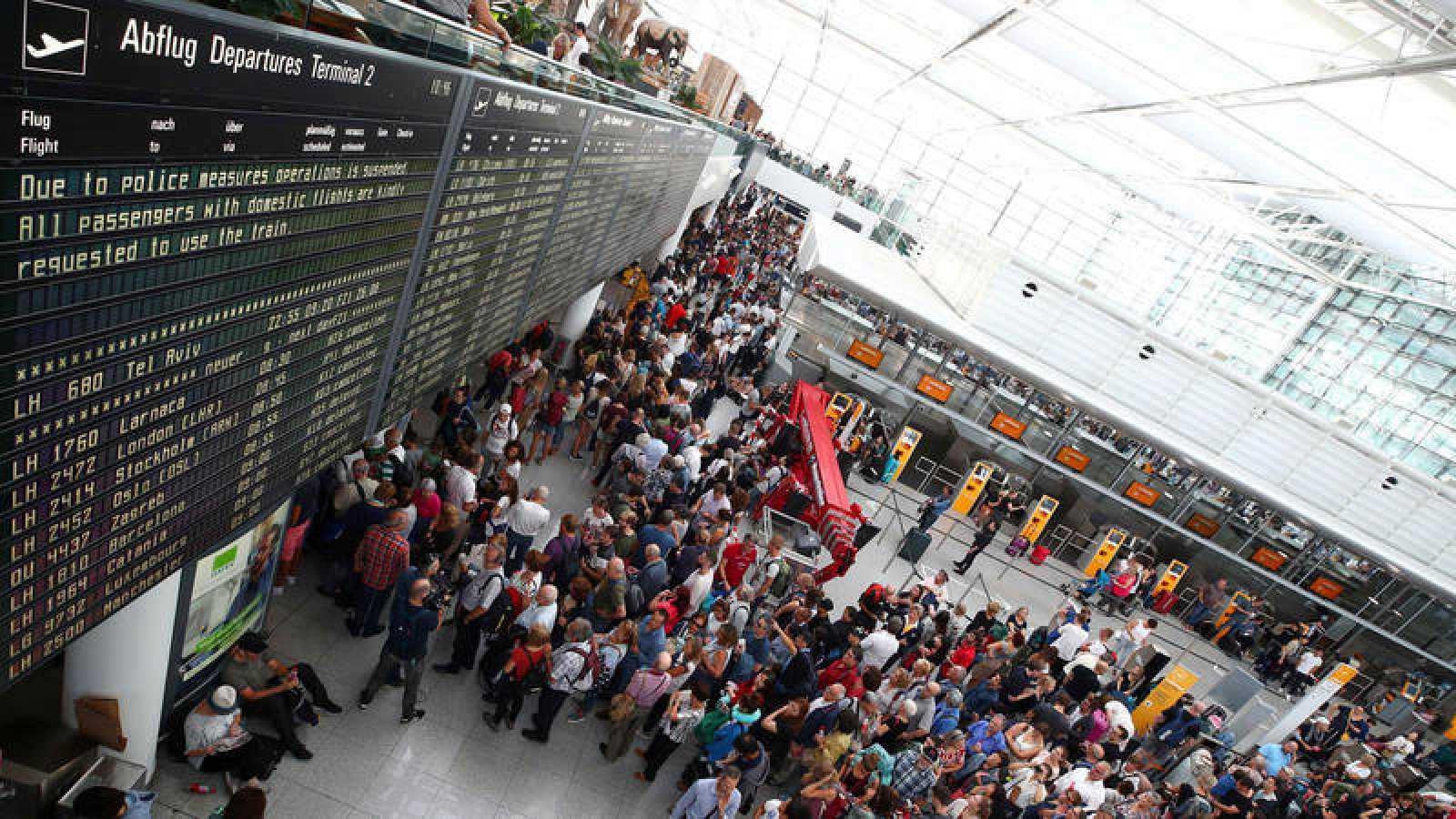 Cancelados 130 vuelos en Munich tras una falsa alarma provocada por un joven español