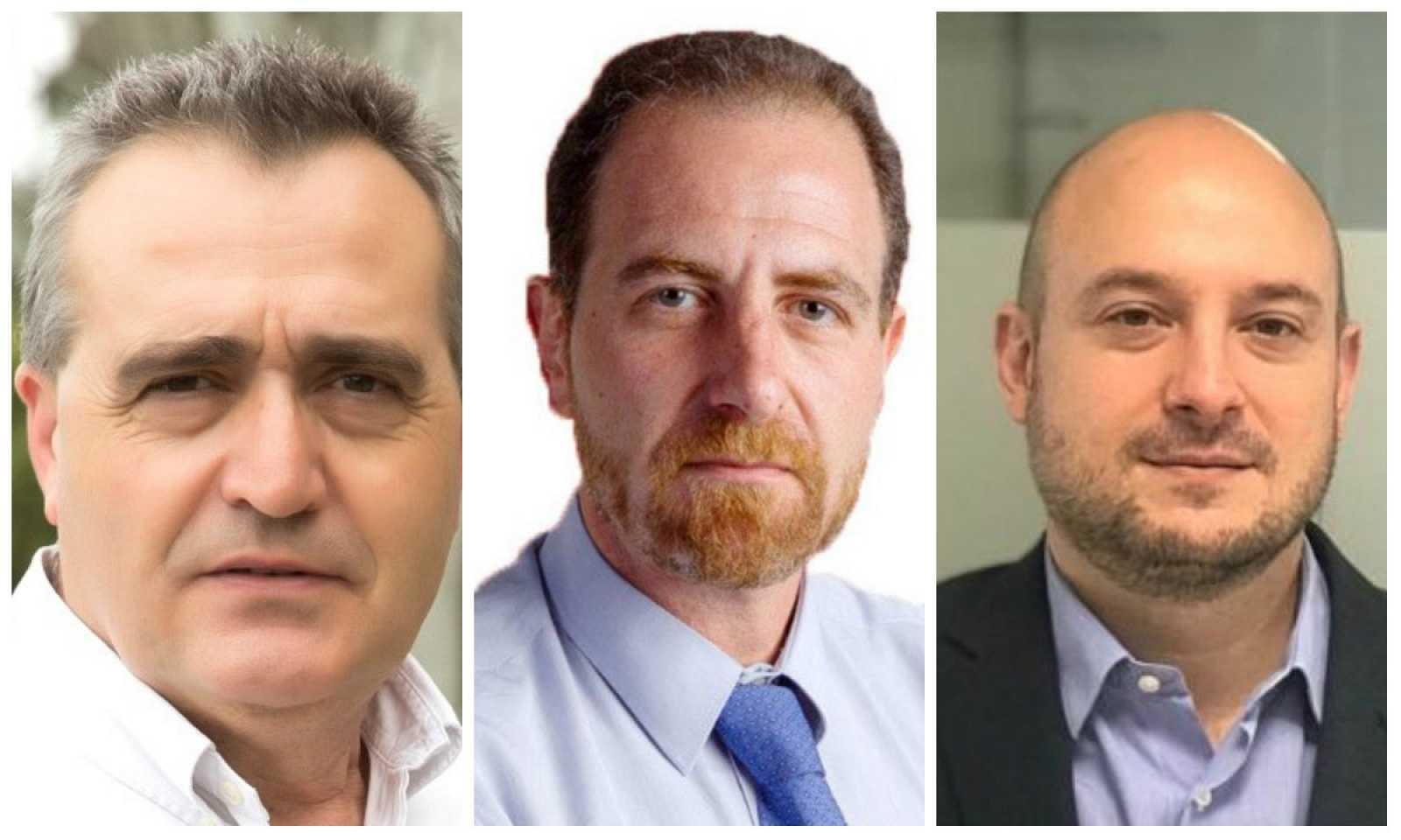 David Valcarce, Enric Hernández y Víctor Sánchez
