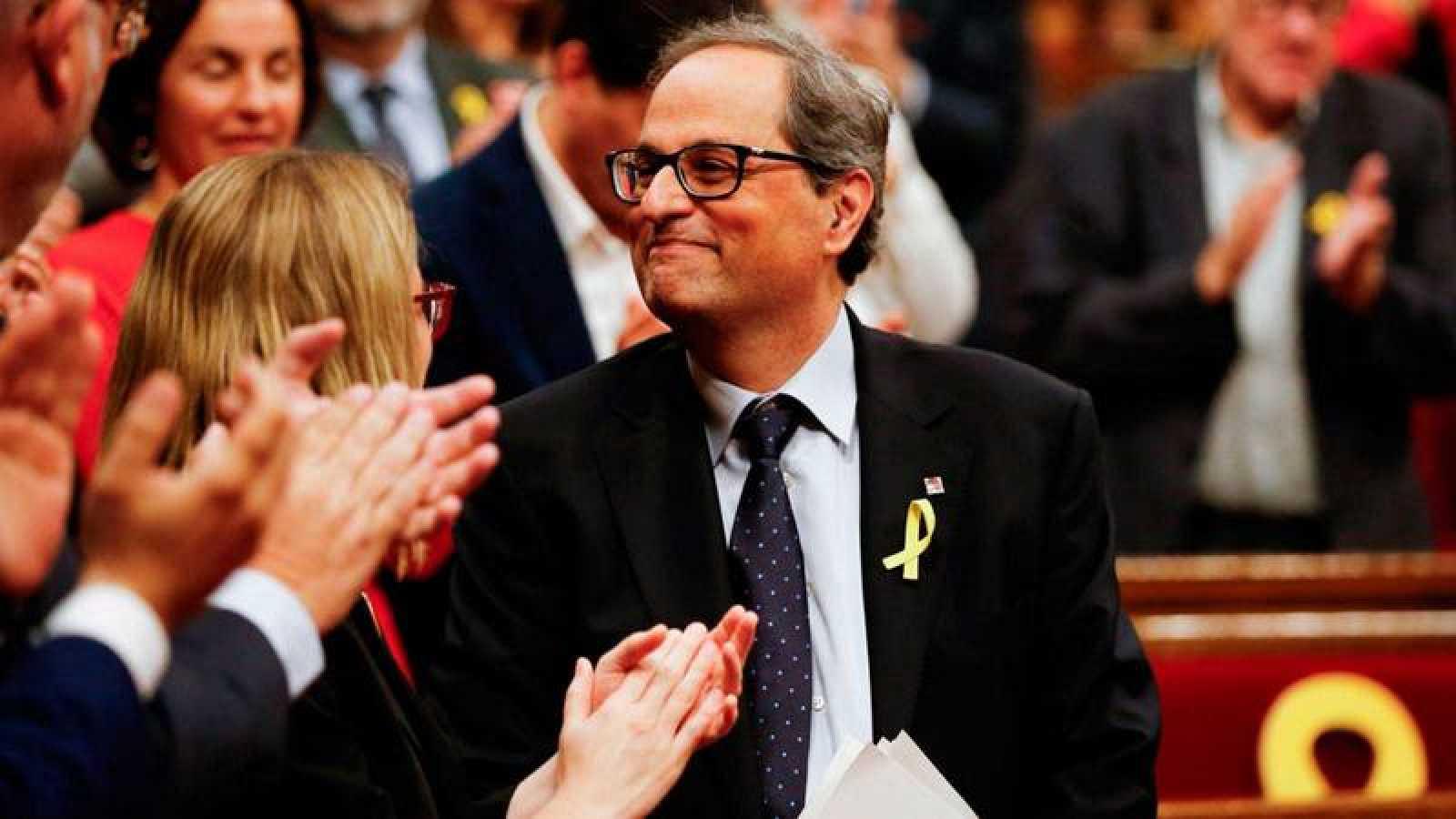 Imagen de archivo en la que aparece el presidente de la Generalitat, Quim Torra.
