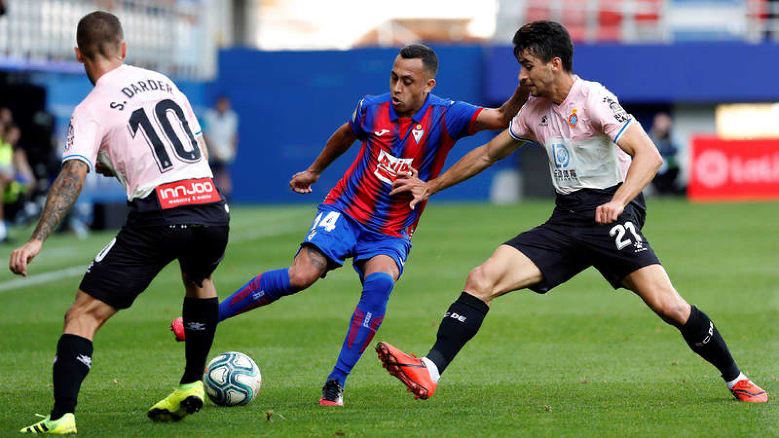 Imagen del Eibar 1-2 RCD Espanyol.