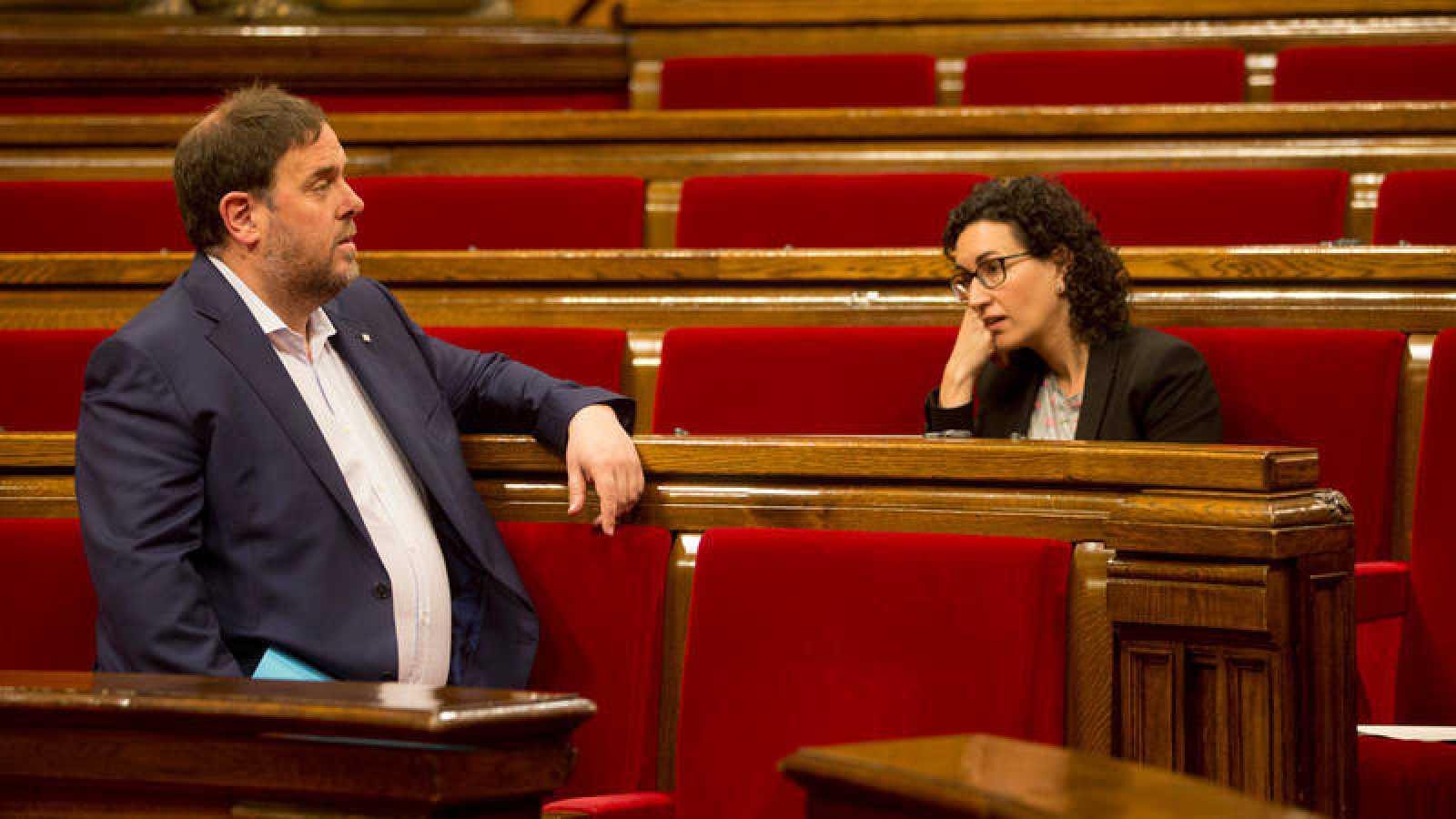 Oriol Junqueras y Marta Rovira en una imagen de archivodel 26/04/2017