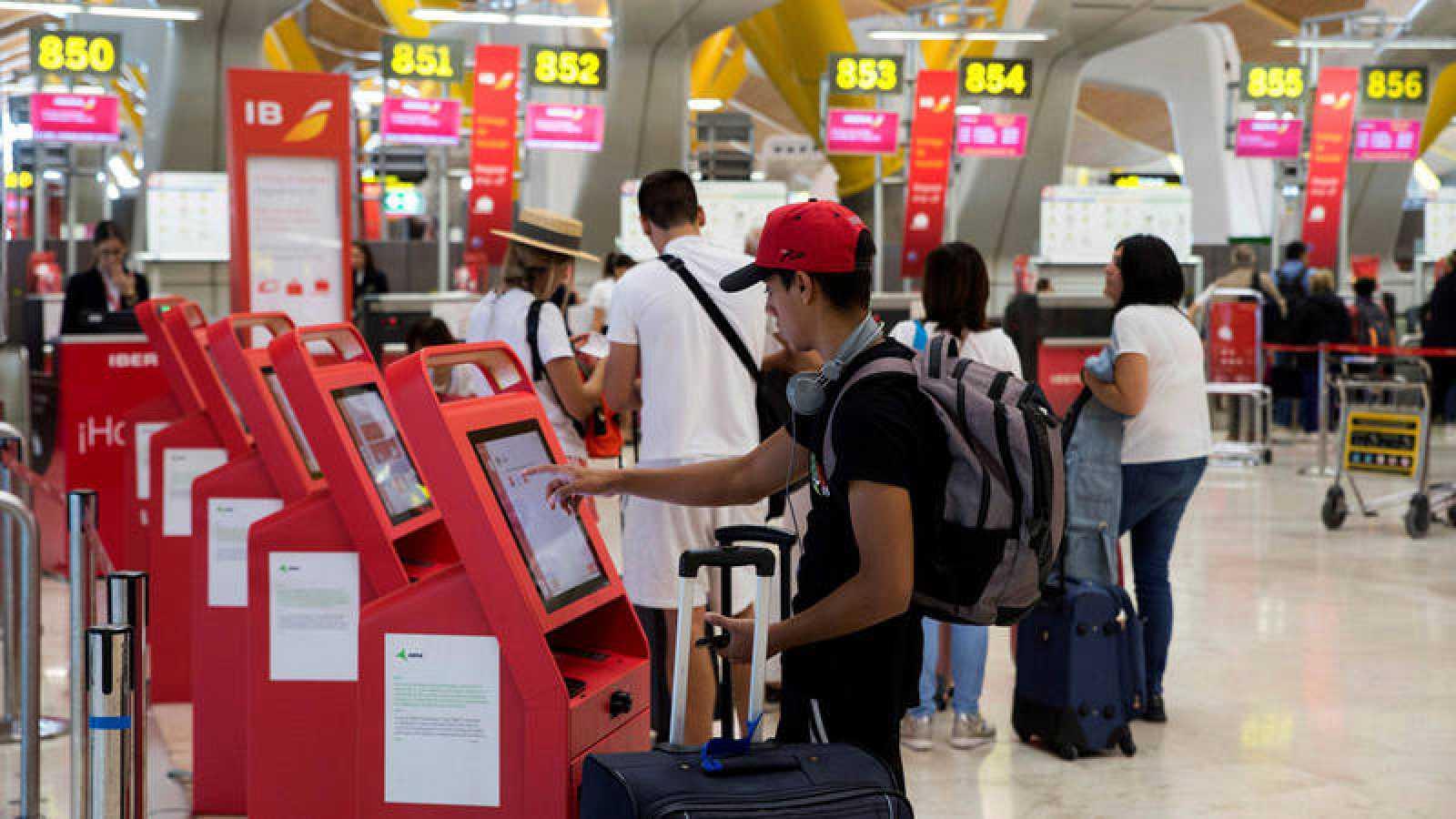 Terminales automáticos de Iberia en Barajas