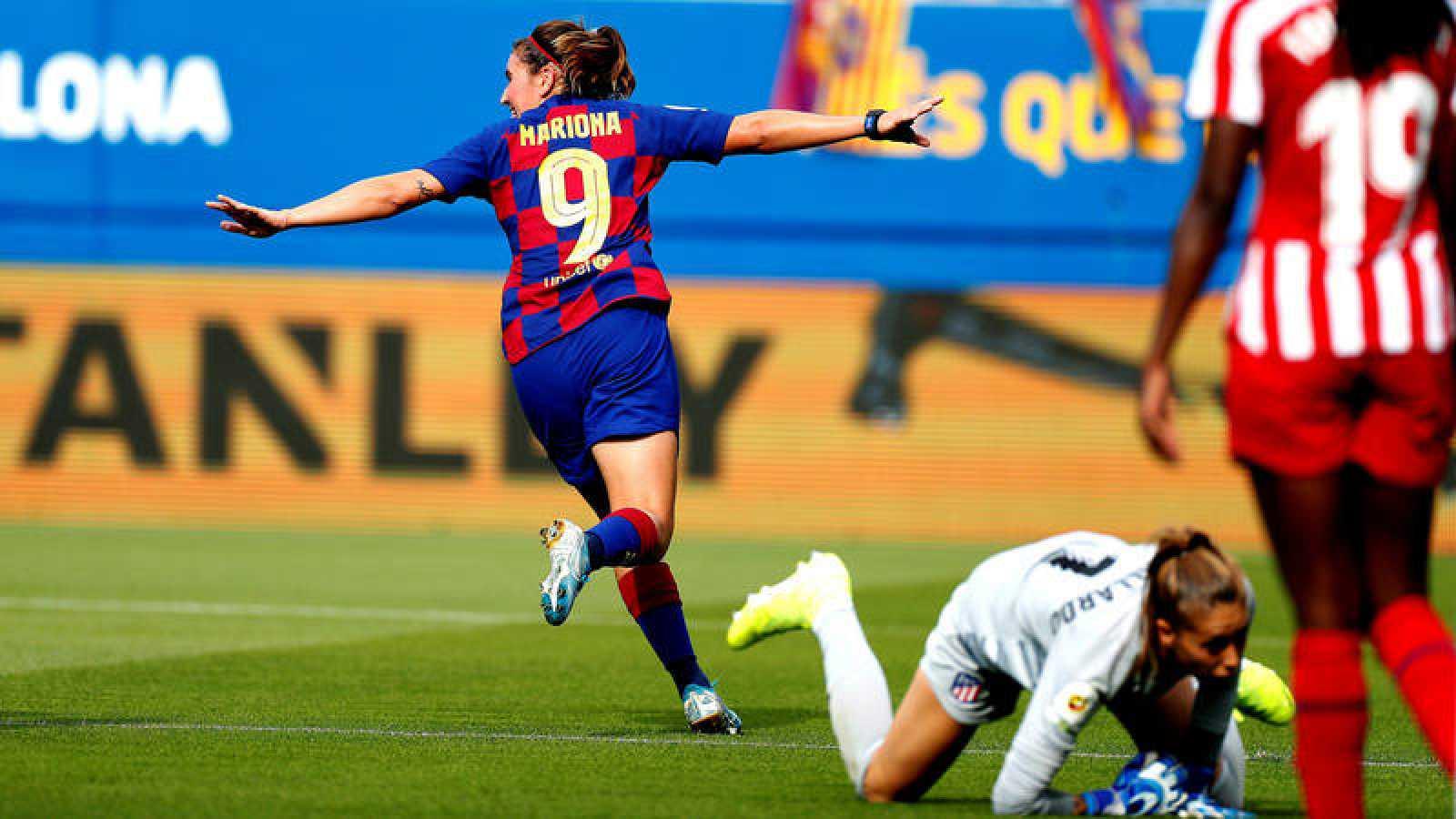 Mariona celebra un gol ante el Atlético