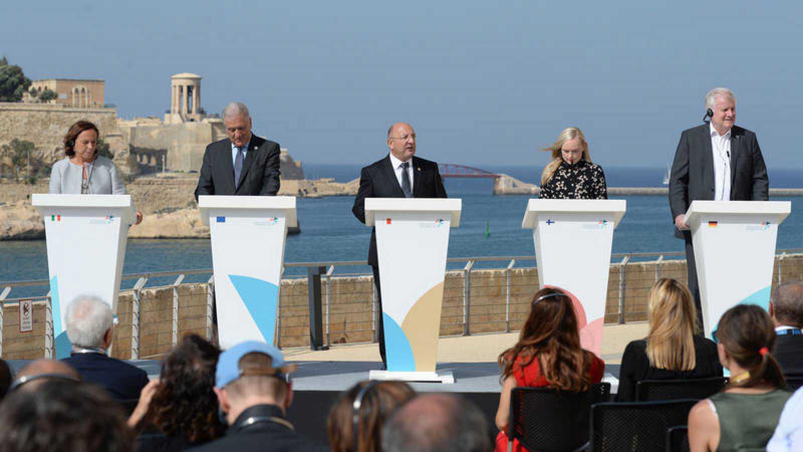 Alemania, Francia, Italia y Malta pactan una solución para gestionar los flujos migratorios del Mediterráneo central