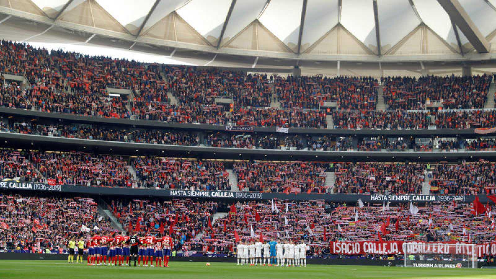 Vista del estadio Wanda Metropolitano, donde se jugará el derbi de la jornada 7 entre Atlético y Madrid.