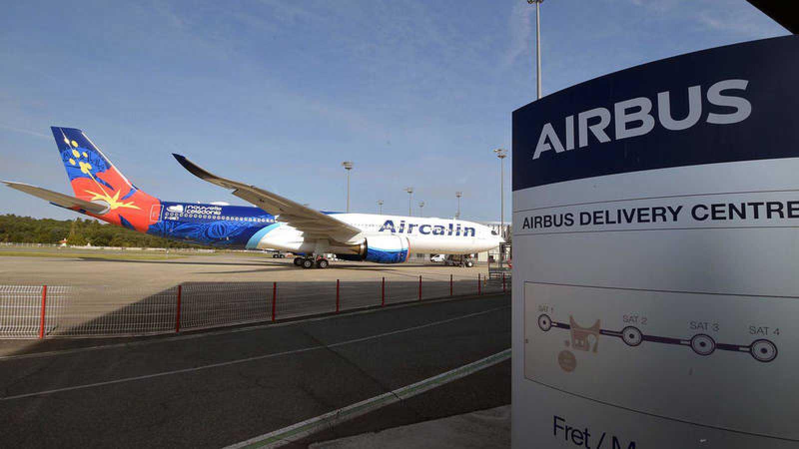 Centro de entrega de aviones Airbus enColomiers, Francia.PASCAL PAVANI / AFP