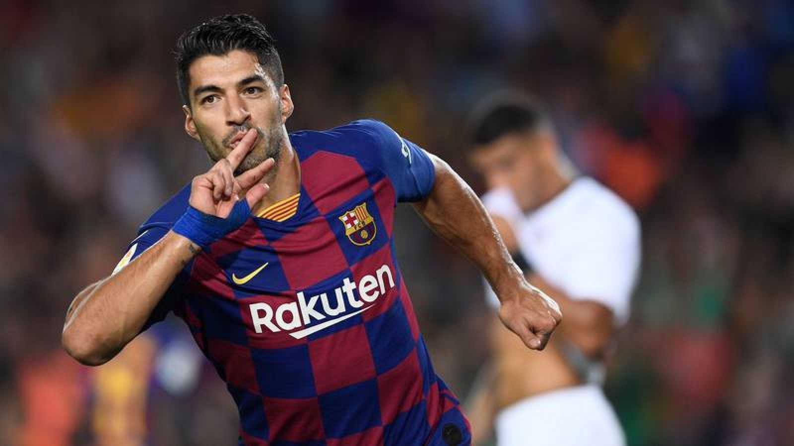Suárez celebra su golazo
