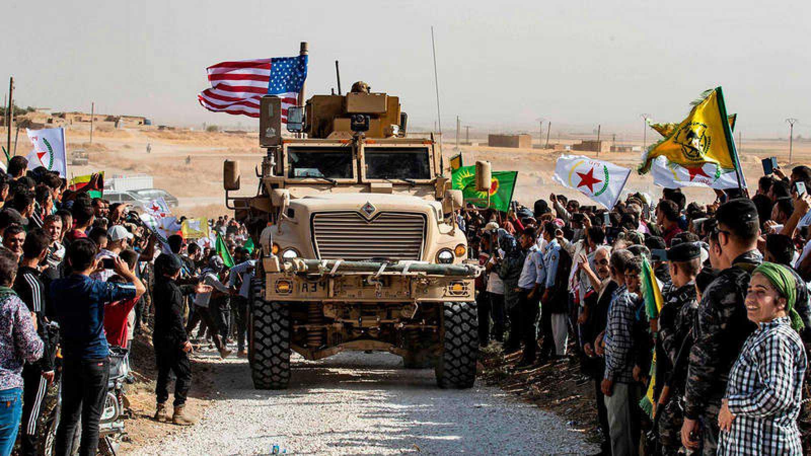 Resultado de imagen para Fuerzas de EE.UU. inician retirada de la frontera de Siria con Turquía