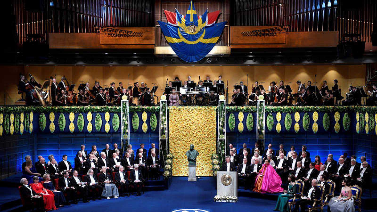 Ceremonia de entrega de los premios Nobel 2018 en Estocolmo