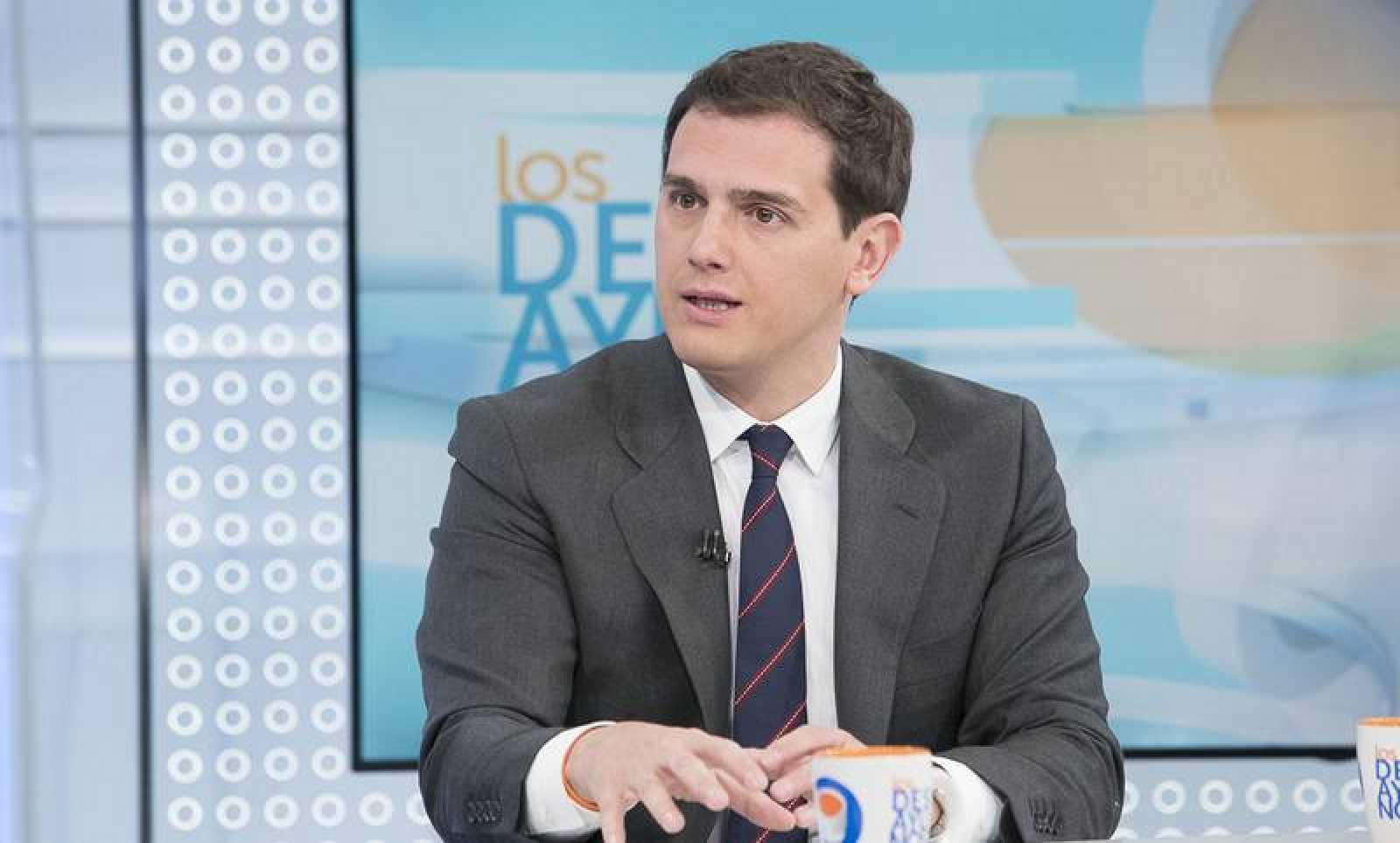 Albert Rivera, este jueves 10 de octubre, en 'Los desayunos de TVE'
