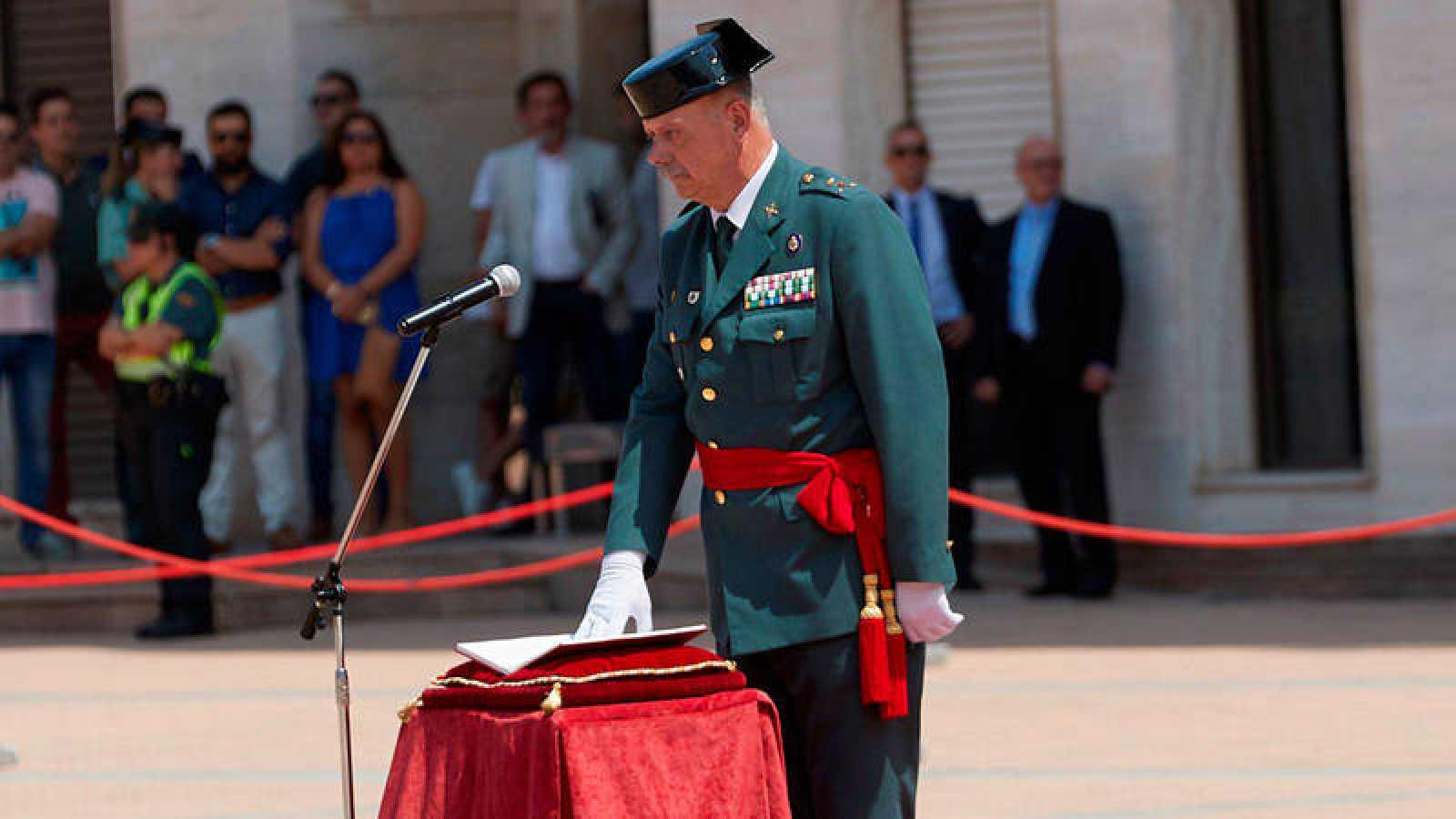 Imagen de archivo deljefe de la Guardia Civil en Cataluña, Pedro Garrido.
