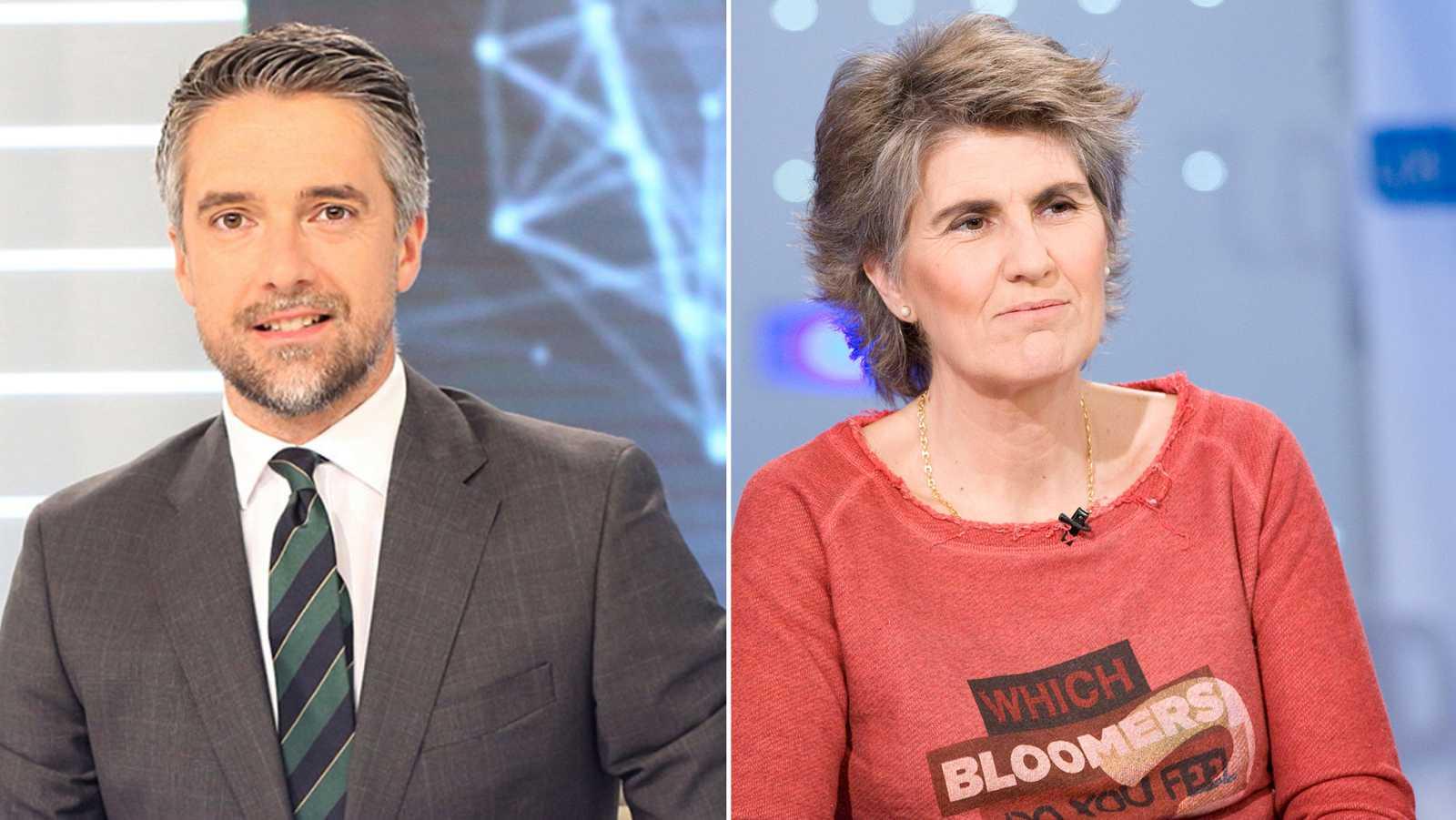 Los periodistas de TVE Carlos Franganillo y Paloma del Río, premios Ondas 2019.