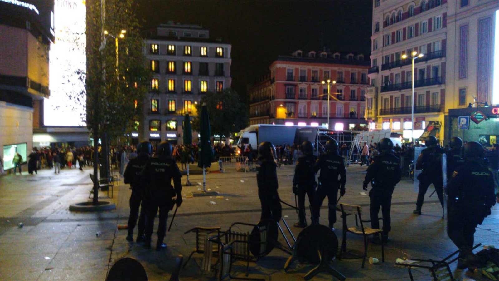 Resultado de imagen de Cargas policiales en Madrid  apoyo a los presos independentistas