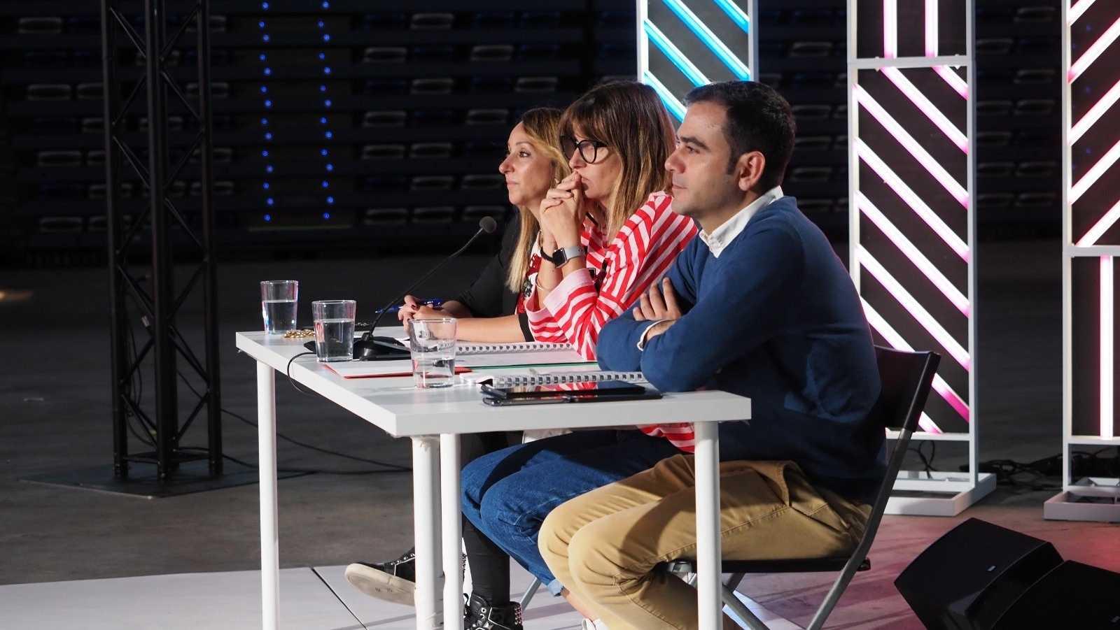 El jurado durante la fase 2 del casting de OT 2020 en Málaga