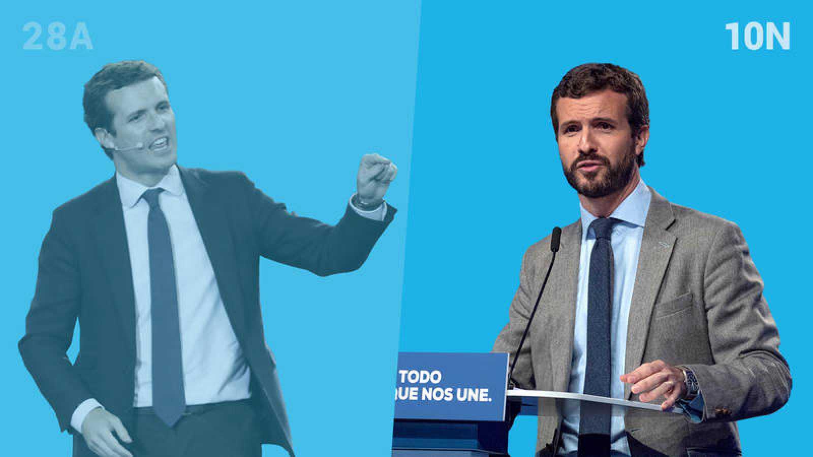 Elecciones generales: Pablo Casado (PP) en las elecciones del 28A y del 10N